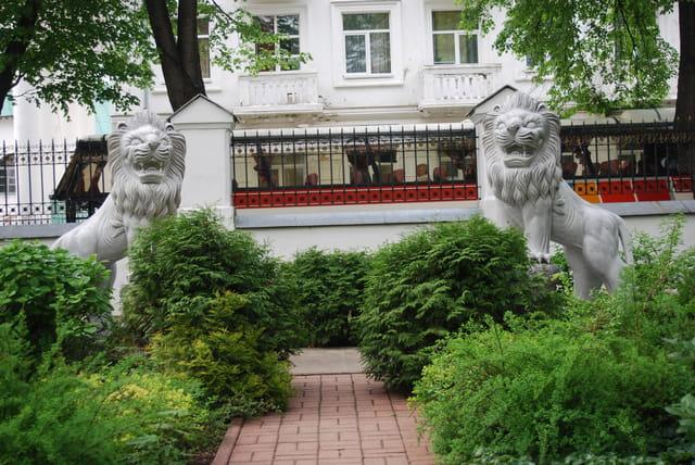 les lions du jardin du Palais du gouverneur