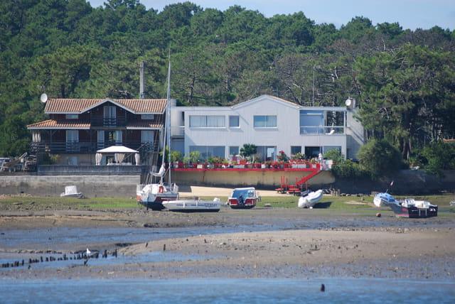 les maisons du bord du Bassin d'Arcachon