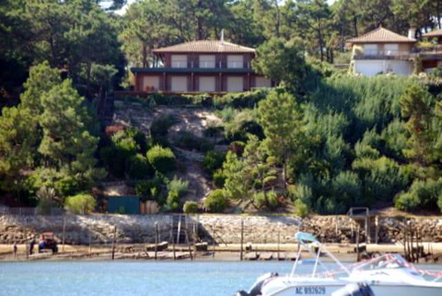 les maisons face au Bassin d'Arcachon
