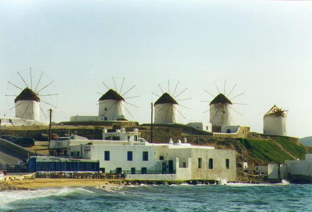 Les moulin de l'île de Mykonos
