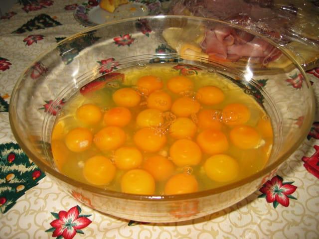 Les oeufs pour faire une omelette