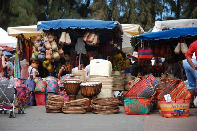 les paniers du marché de Saint Paul