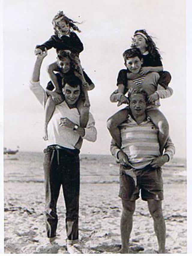 Les pères à la plage