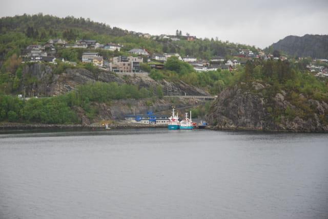 les petits ports à l'entrée de Bergen