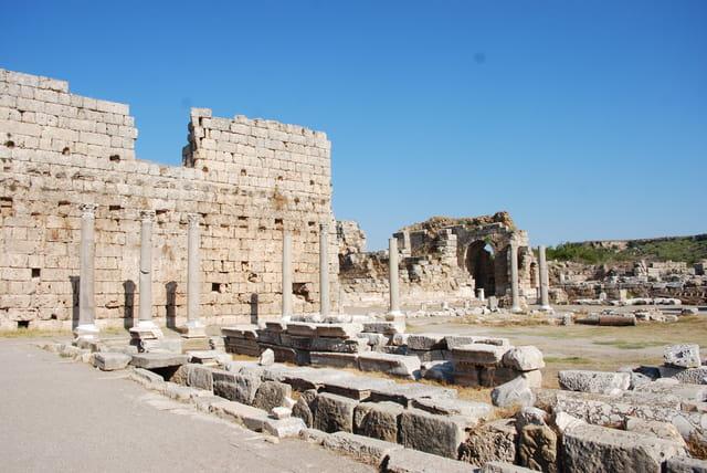 Les ruines d'une basilique byzantine