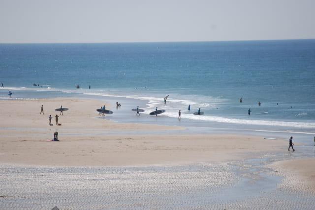 les surfeurs arrivent