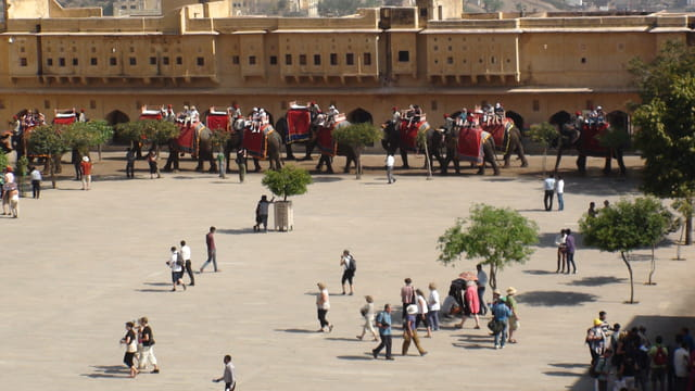 Les taxis du fort d'Amber à Jaipur