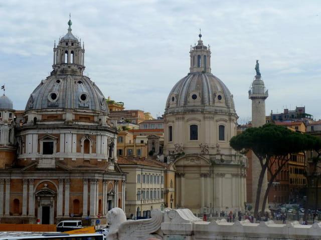 Les toits de Rome depuis le monument  de Victor-Emmanuel II