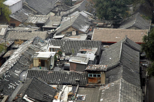 Les toits des hutongs