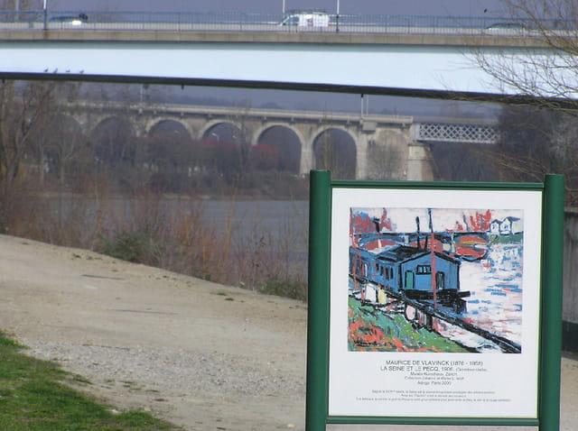Les trois ponts et une peinture de Maurice de Vlaminck