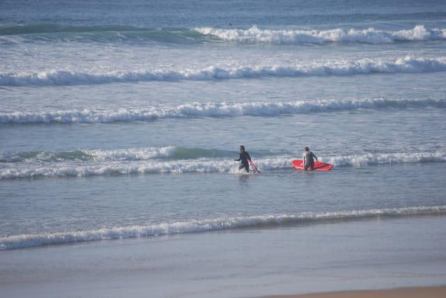 les vagues de Biscarrosse plagee