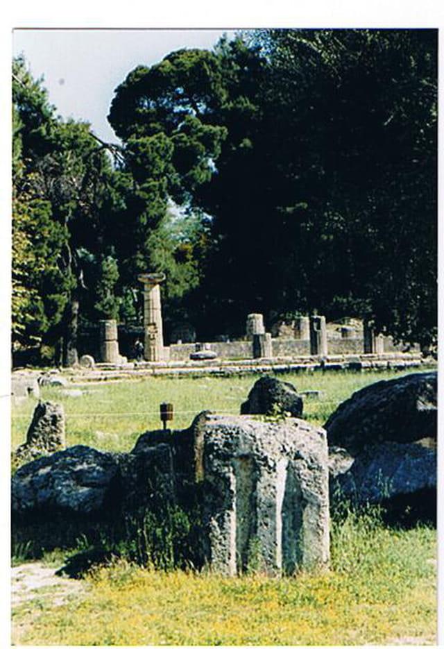 Les vestiges du temple