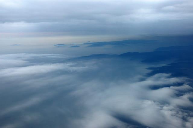 Les Vosges vues d'avion