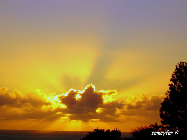 Lever de soleil à la Réunion