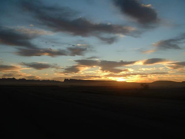 Lever de soleil a Tamanrasset