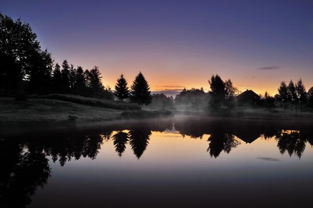 Lever de soleil au Mille étangs
