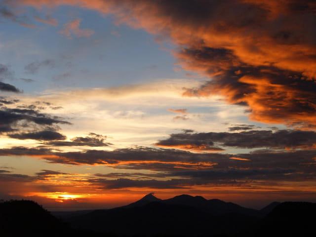Lever de soleil au nicaragua