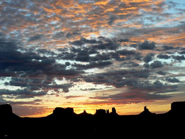 Lever de soleil en Arizona
