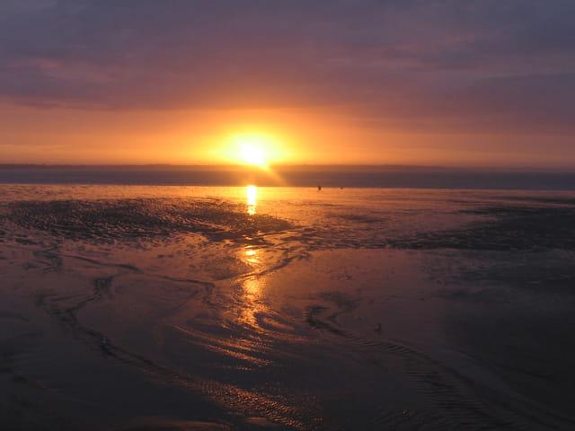 Lever de soleil sur l'estuaire