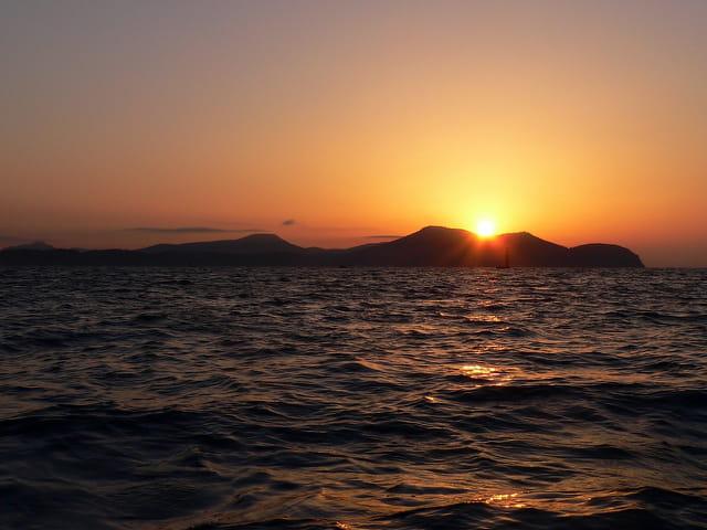Lever de soleil sur le Cap Garonne