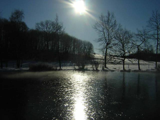 Lever de soleil un matin en hiver