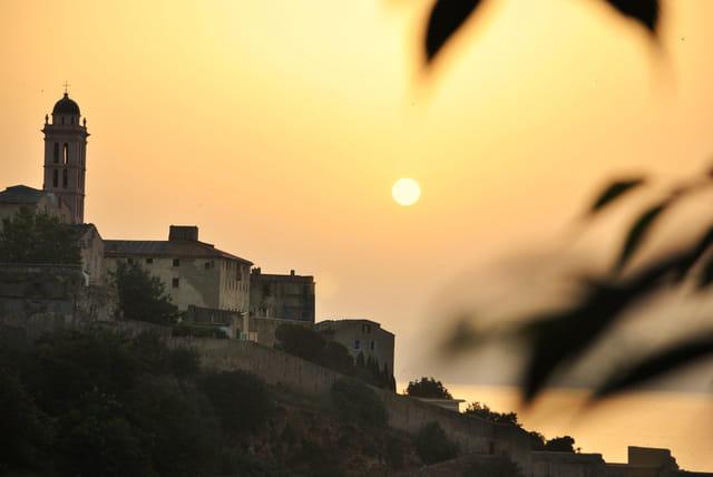 Lever du jour citadelle de Bastia