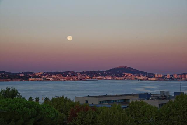 Lever du jour & coucher de lune