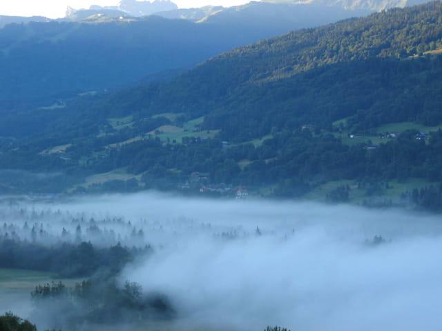 lever du jour en montagne