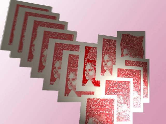 Liberté, egalité, et  timbres poste