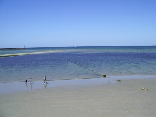 Lignes : plage, eau, horizon, roche