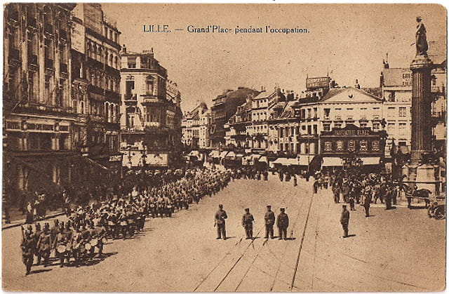 Lille - Grand-Place durant l'occupation - Guerre 14-18