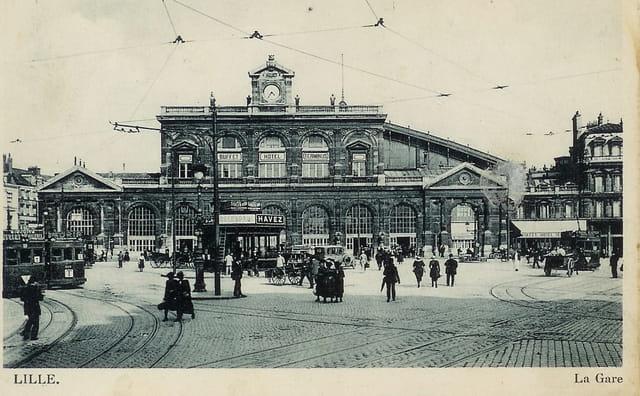 La gare de Lille, appelée aujourd'hui gare Lille Flandres
