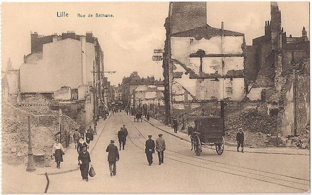Lille - Rue de Béthune - Ruines 1914