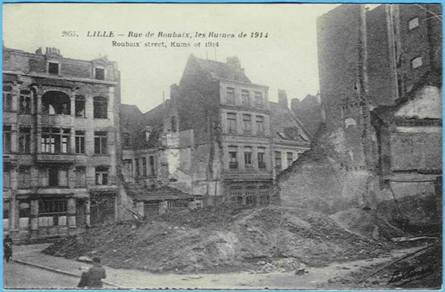Lille - rue de Roubaix - Ruines 1914