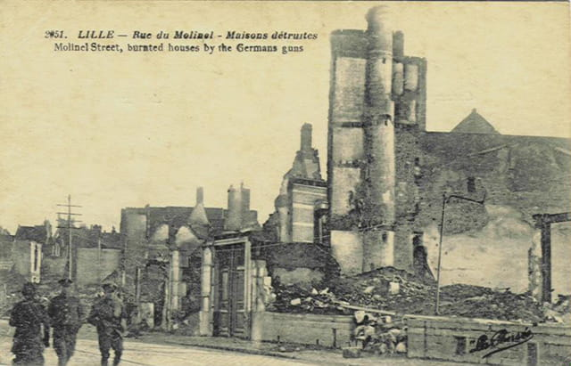 Lille - rue du Molinel - ruines 14-18