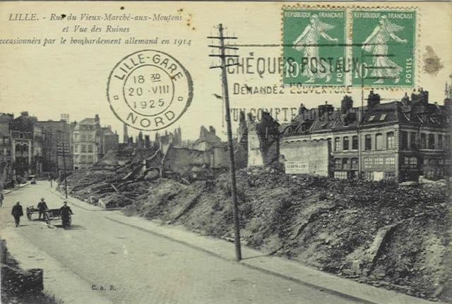 Lille - Rue du Vieux-Marché-aux-Moutons - Ruines