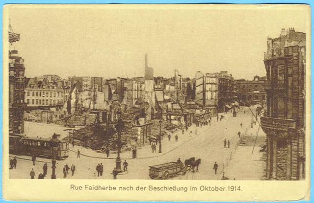 Lille - rue Faidherbe - Ruines 1914