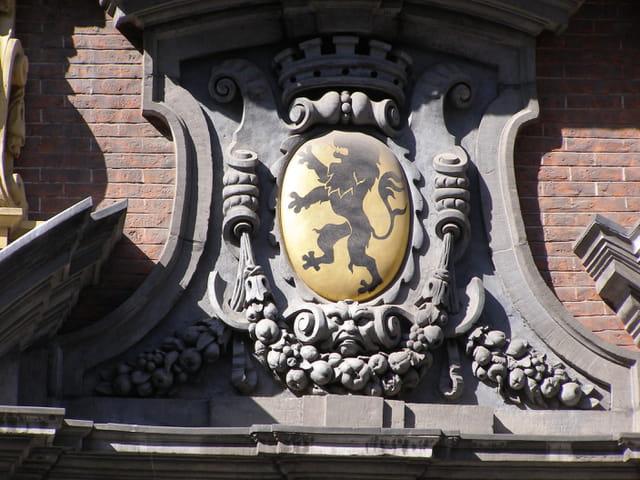 Lion des Flandres sur fond d'or