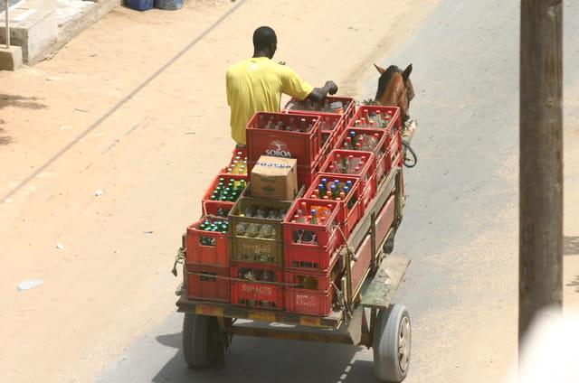 Livraison en charrette