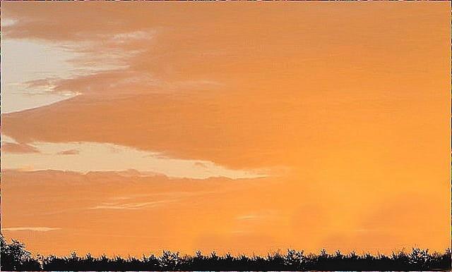 lueurs du soleil levant