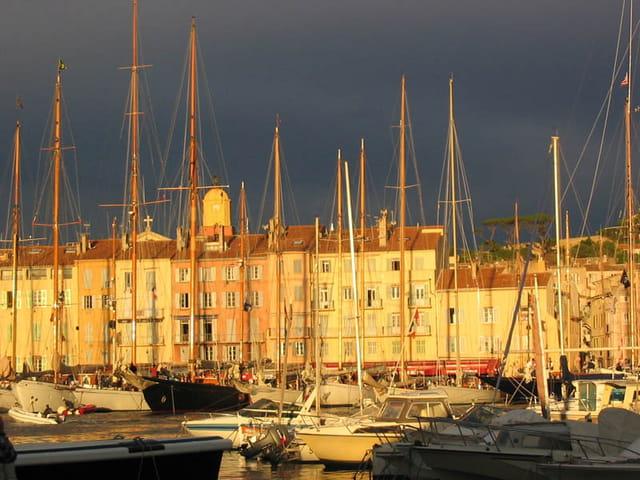 Lumière d'orage sur Saint Tropez