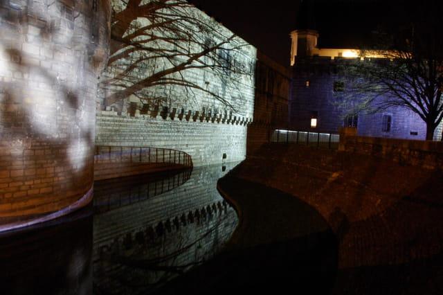 Lumières du château la nuit