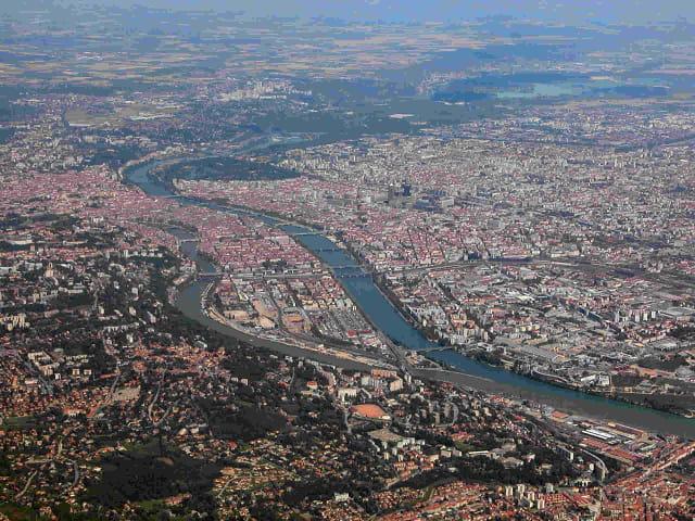 Lyon vue d'avion