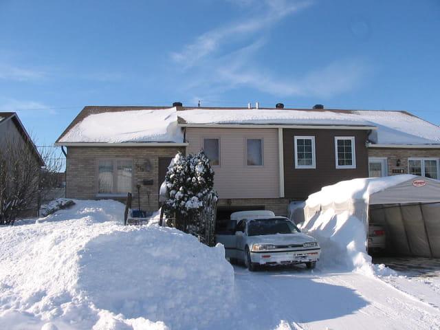 Ma maison au Québec en hiver