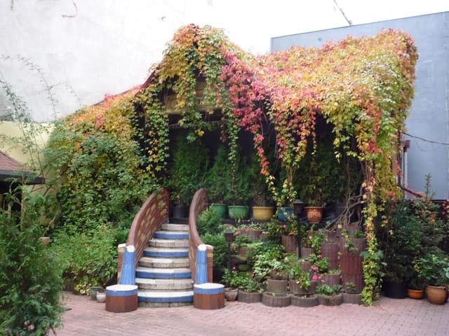Le toit d'une maison