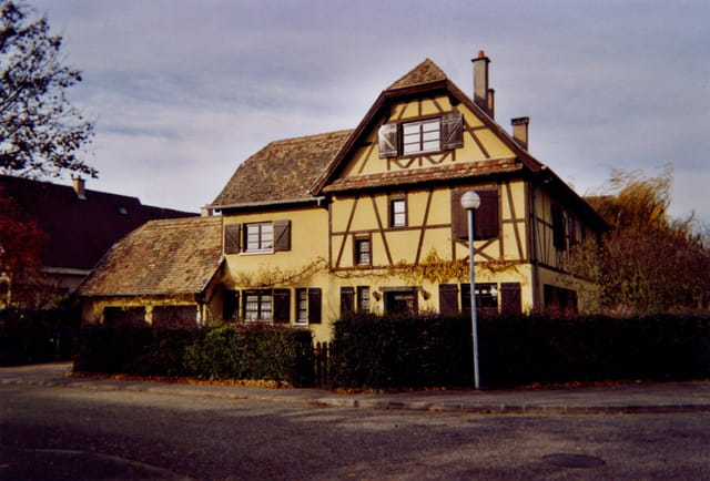 Maison alsacienne à colombages