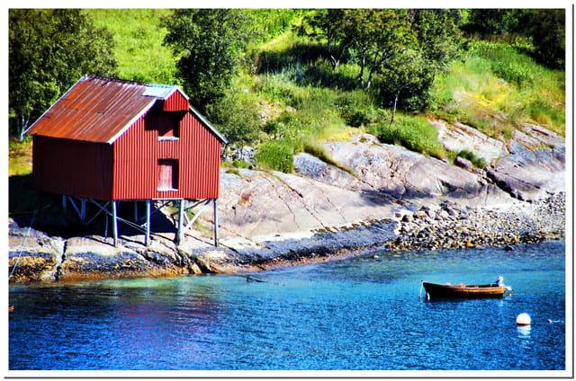 Maison de Pêcheur, Olden Fjord. Norvège