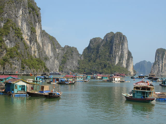 Maisons flottantes halong