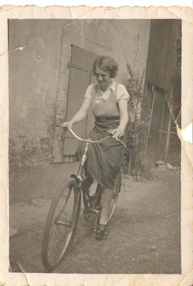 Maman à vélo