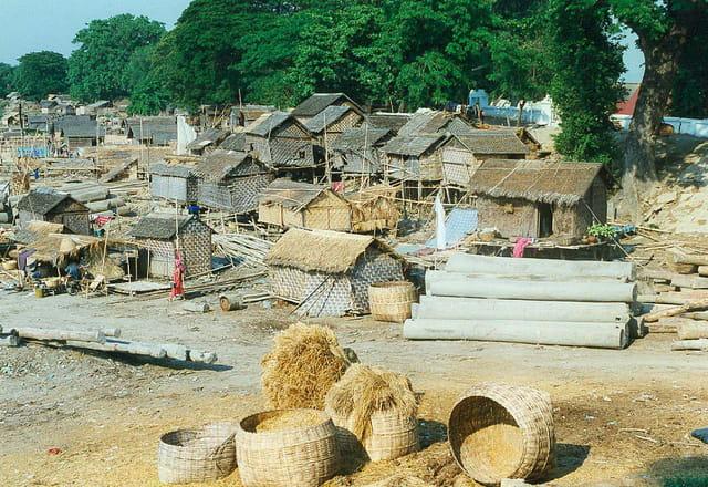 Mandalay : le travail des grumes de teck